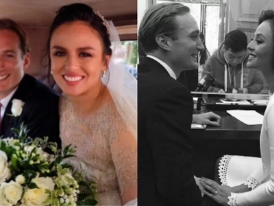 May nauna pa pala! Georgina Wilson got married prior to her church wedding and celebrates it in style