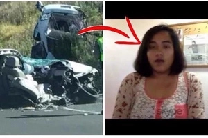 It's a Miracle! A Pinay in California miraculously survives after her car was split in half after a collision with a sports utility vehicle.