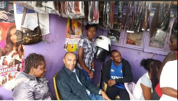 Peter Kenneth takes his campaigns to the last place you'd expect any politician