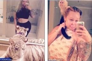 ¡Mujer Vivía en la casa con zorros, tigres y monos! Autoridades la arrestaron por poner en riesgo a su hija