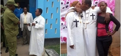 Self-styled Tanzanian prophet pictured kissing wife and house girl finally arrested