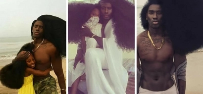 Father and his daughter pictures set new hair goals