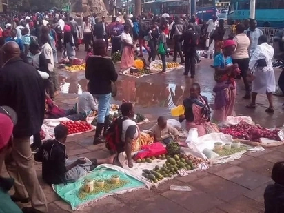 Hawkers to be kicked out of Nairobi CBD since elections are over - Nairobi Regional commander