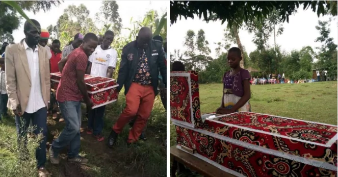 8-year-old boy who died while mother was doing 'kerewa' finally laid to rest (photos)
