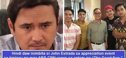 May 'pambabastos' ba talagang ganap kaya di inimbita? John Estrada uninvited by ABS-CBN's top honchos to appreciation event for 'The Good Son' actors?