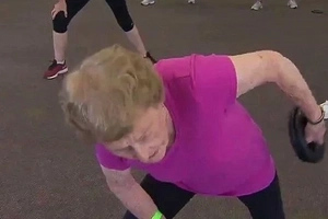 Meet Great-grandma, 94, Who Hits TEN Gym Classes Each Week And Adores Hugging Young Men (photos, Video)