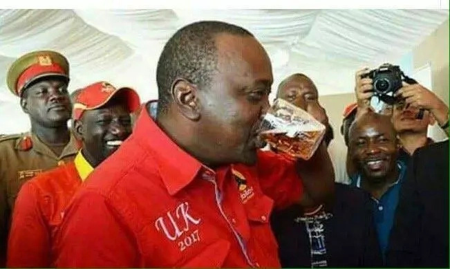 Boni Khalwale reaction to Uhuru drowning a glass of Senator Keg