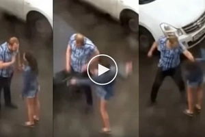 Man snaps, loses self-control and assaults girlfriend after she slapped and kicked him in public
