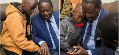 Raila Odinga visits late Chris Msando's rural home and shares emotional photos