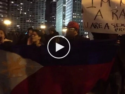 Ayaw namin sayo! Angry Fil-Ams join protest rally against Trump in Chicago