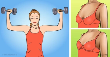 A workout to lift breasts naturally