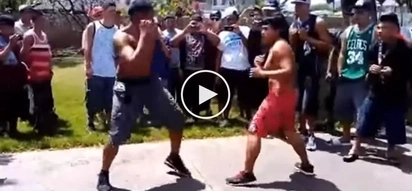Nasobrahan sa angas! Small Pinoy gets brutally knocked down by giant American in scary street fight
