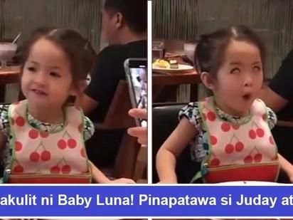 Tumirik kanyang mga mata! Baby Luna Agoncillo gives Juday and Ryan a good laugh with kulit antics