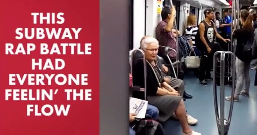 80+ Old Couple Is KILLING IT During Rap Battle In A Subway (Video)
