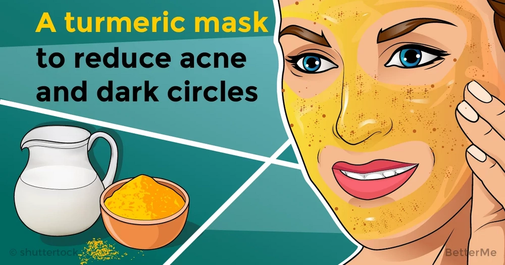 A turmeric face mask recipe can help you reduce acne and dark circles