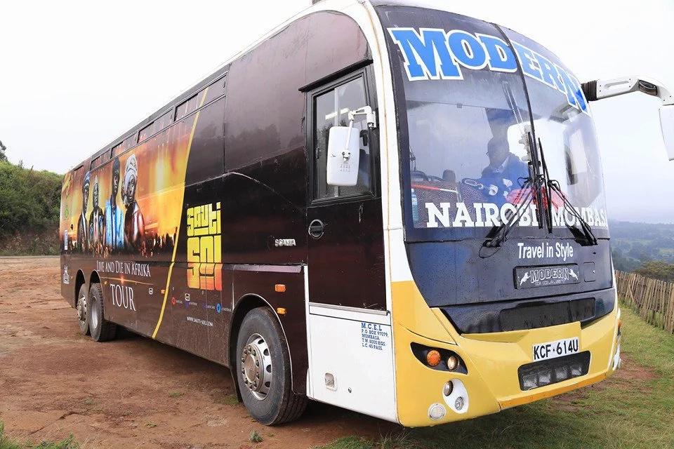 Photos: Inside Sauti Sol's luxury tour bus