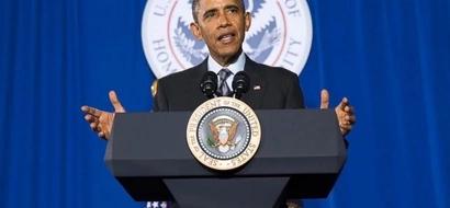 Obama Gives Speech To Kenya At Safaricom Indoor Arena