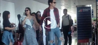 Josh Garcia and Julia Barretto displays public affection by holding hands while walking