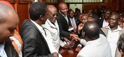 What  Raila said of Moses Kuria while forgiving him