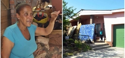 Sad! Mother-of-2 forced to live on a verandah after her own sister kicked her out of their home