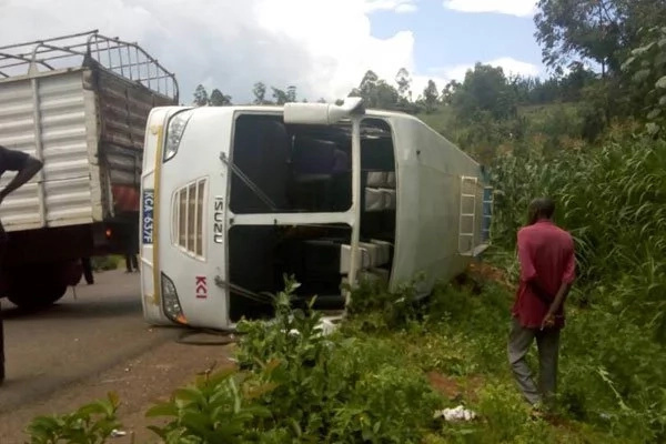 38 escape death in horror crash while on their way to an MP's home