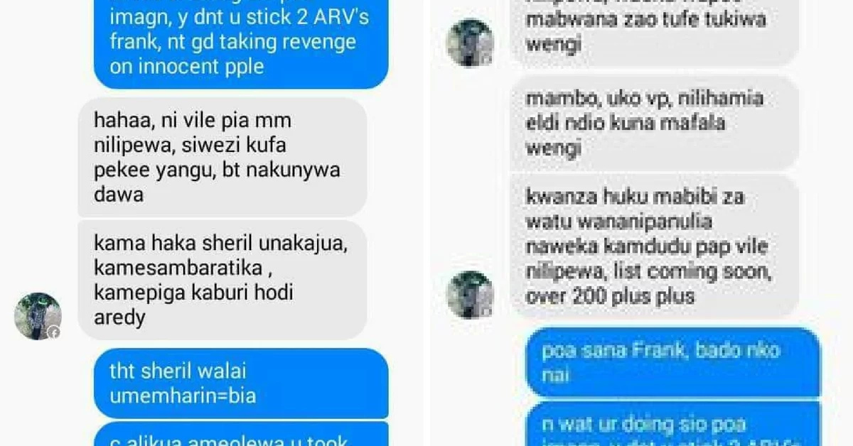 Cold-hearted Eldoret man to release a list of 200 women he's infected with HIV