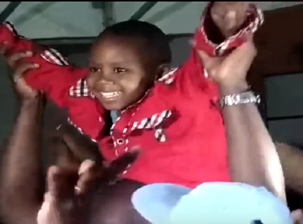 Watch how happy 4-year-old Kidnapped boy was when reuniting with his parents (video)