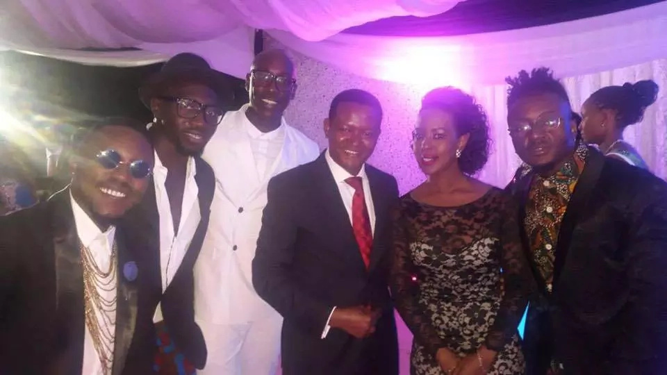 Afred Mutua's wife tiny skirt causes a stir on social media