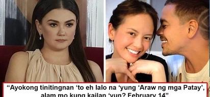 Talagang pinaasa daw siya sa forever! Angelica Panganiban allegedly tags February 14 as 'Araw ng mga Patay' after JLC ended up dating another woman