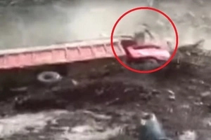 Footage captures man's INCREDIBLE escape from mudslide (video)