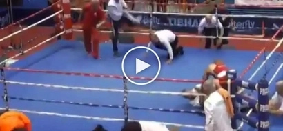 Binugbog pati si ref! Frustrated amateur boxer brutally knock outs biased referee