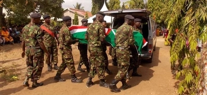 HEARTBREAK as KDF soldier killed in the deadly Kulbiyow base attack is buried