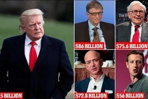 Bill Gates named world's RICHEST man, Donald Trump slips more than 200 spots with $3.5billion fortune