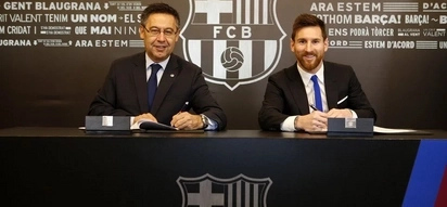 Blow to Manchester City as Barca star Lionel Messi signs new multi-million contract until 2021