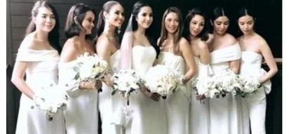 Here comes the bride! Maxene Magalona's wedding gown and bridesmaids revealed in stunning photos