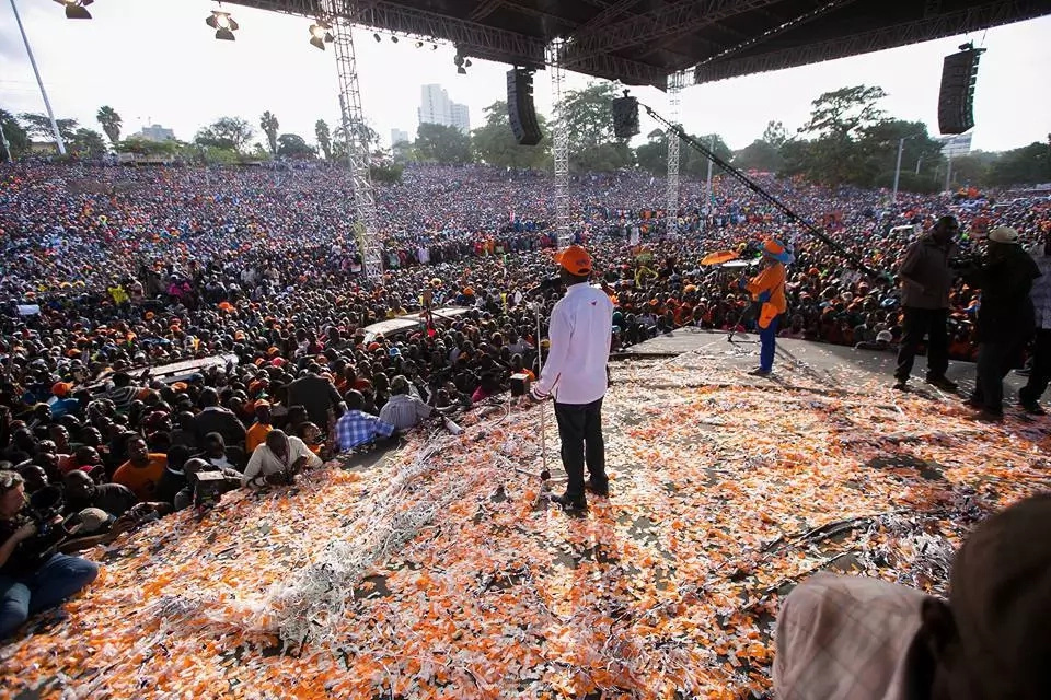 Welcome to my victory party at State House next Saturday- Raila
