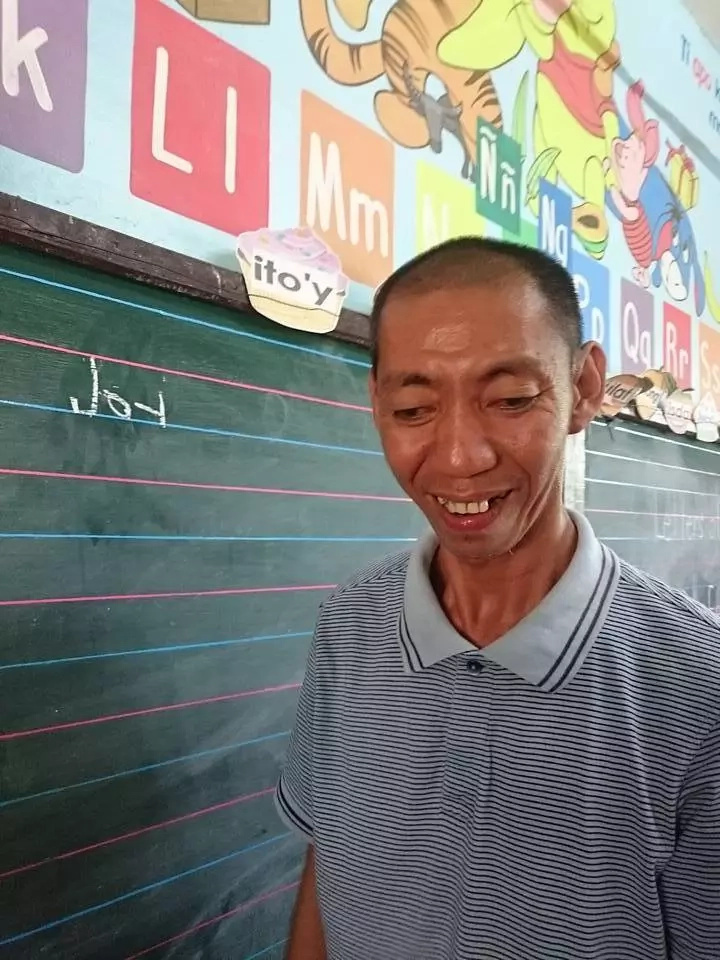 This 40-year old man is starting first grade in Laoag
