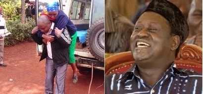 Meet Murang'a man who carried old women to polling stations on his back(photos)