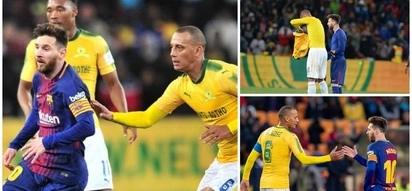 Arendse says he got Messi's shirt because Messi was near him at the end
