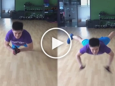 Robi Domingo flaunts the results of his work outs with incredible push-up skills