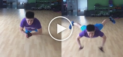 Lakas ni kuya! Robi Domingo shows off his muscles and push-up skills in this amazing video