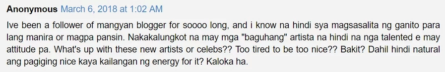 """Panget daw ang ugali? Mangyan blogger rants on Twitter about Sofia Andres' alleged """"attitude problem"""""""