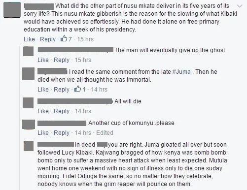 Kenyans reactions on Mwai Kibaki's ill health