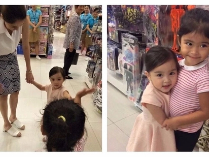 Pinalaki ng tama! Cute video of Marian Rivera's daughter Zia meeting Melai Cantiveros' daughter Mela in a toy store goes viral