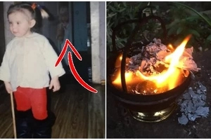We all love to watch family albums and enjoy the good old days. After finding a picture when she was 4, the girl was frightened and burned the photo!
