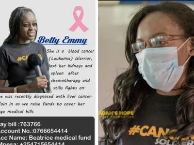 Mwanamke huyu amekuwa akiwalaghai Wakenya kwa kudai anaugua kansa ya Leukemia?