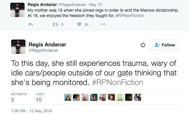 Netizens share personal stories under Martial Law