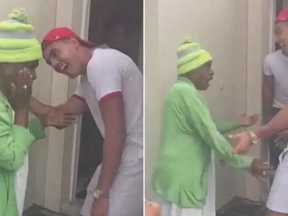 Family surprises grandma, 73, with return of her grandson by tricking her to get out of house to see turtle