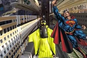 Adrenaline junkies fly between skyscrapers like superheroes