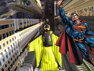 Adrenaline junkies fly between skyscrapers like superheroes